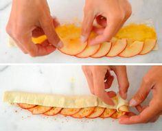 Štrúdl není to pravé? Vyzkoušejte efektní variaci na jablka a listové těsto vpodobě rozvitých květů růže!