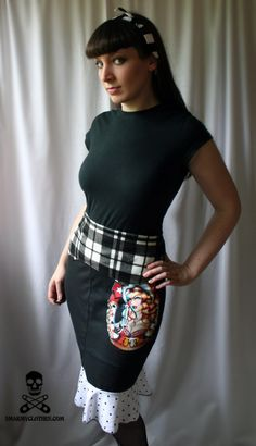 rockabilly clothing tutorial : DiY crafts, free sewing patterns & sewing tutorials – WhatTheCraft.com. How to make a pencil skirt!!