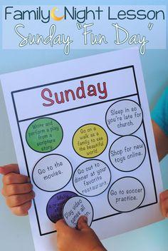 sunday fun day - a family night Lesson idea!