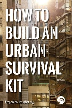 """Learn how to complete and build an urban survival kit and increase your chances of survival whatever disaster comes your way! When you hear the words """"survival situation,"""" what springs to mind? For most people, they immediately imagine some kind of emergency in the great outdoors: lost in the woods, or perhaps a camping trip gone wrong. but that's not what most people are looking for."""