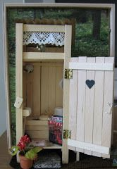 Huussi :D (=outhouse, latrine, dry toilet, crapper...) The blogger is making a Victorian dollhouse and her pics sure did please my eye! Posts also in english.