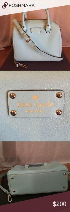Kate Spade Wellesley Alessa Leather Satchel Purse Kate Spade Wellesley Alessa Leather Satchel Purse Bag in baby blue kate spade Bags Satchels
