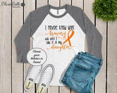 5ad85604ca5 I Never Knew What Bravery Was Until I Saw It In My Leukemia Shirt For  Women, Leukemia Awareness Shirt, I Wear Orange Shirt