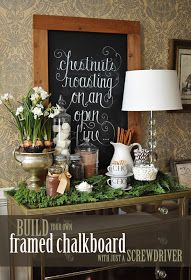 Love the idea of a hot chocolate bar, but I really love the lettering on the chalk board. {Tipsy Christmas Cheer} just add booze for a christmas hot Chocolate Bar --had one at last year's party and it was a hit! Primitive Christmas, Noel Christmas, All Things Christmas, Winter Christmas, Beach Christmas, Christmas Vignette, Christmas Posters, Classy Christmas, Christmas Houses