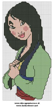 MULAN CROSS STITCH by syra1974.deviantart.com on @deviantART