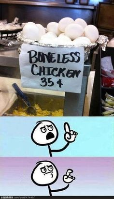Boneless chicken