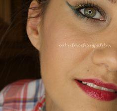 Delineado para fiesta | Maquillaje Navidad http://www.entrebrochasypaletas.com/2014/12/delineado-para-fiesta-maquillaje-navidad.html #makeup