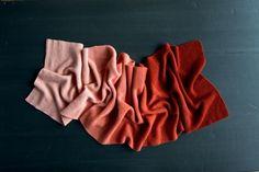 New Color! Our Cashmere Ombré Wrap in Vermilion | Purl Soho - Create