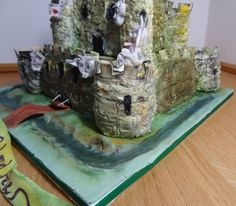 Gothic Castle cake with Dragon and Gargoyles By Fifi-s_Cakes