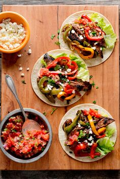 NYT Cooking: Skirt steak is the traditional cut used for fajitas. It used to be inexpensive, but now it's not so cheap; oftentimes flank steak costs less. Either will be a good choice.