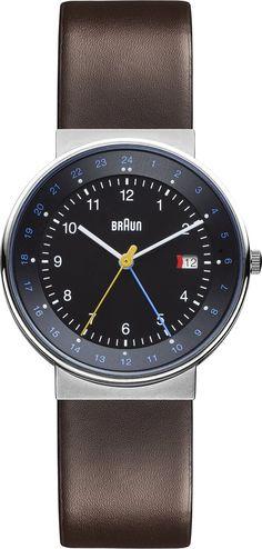 Amazon.com: BN0142BKBRG GMT World Timer Analog Display Swiss Quartz Brown Watch. 40mm case.