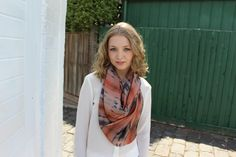 Digitally Printed Silk Scarf - Greek Sunset by CoconutTextiles on Etsy