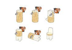 Chainsaw Carving free patterns instructions how carve a simple chair.