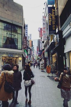 Myeongdong, south korea.