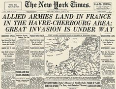 Headlines on June 6th, 1944