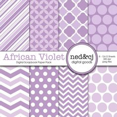 Digital Scrapbook Paper Pack  African Violet  by nedandcjdigital  https://www.etsy.com/listing/152283906/digital-scrapbook-paper-pack-african?ref=shop_home_active_18