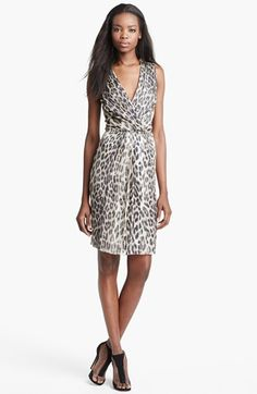 L'AGENCE Leopard Print Chiffon Dress available at #Nordstrom