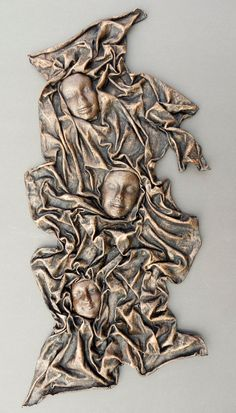 Contemporary Wall Art 'Three Faces'.[would be even more awesome with hear/see/speak no evil faces!]