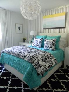 Beautiful Bedroom With Turquoise Bedding And Accents By Melissa Findley Part 78