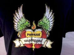 Phonak-Unplugged-T-shirt-Black-Men-039-s-XL-100-Cotton-Go-Wireless-Hearing-Aid-2009