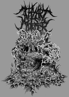 "art work by Leonardo Bimbati cover ""Thy art is Murder"" Metal Band Logos, Metal Bands, Thy Art Is Murder, Noise Pollution, Metal Albums, Death Metal, Music Bands, Metal Art, Art Boards"