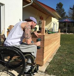 Paraplegic doing garden/yard work>>> See it. Believe it. Do it. Watch thousands of spinal cord injury videos at SPINALpedia.com