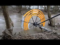 interesting water wheel pump - with no electric - YouTube