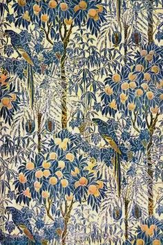 Macaw wallpaper design by Walter Crane, ca.1908