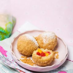 Süße Knödel mit Erdbeer-Mango-Fülle