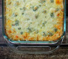 Buffalo Chicken Quinoa Bake