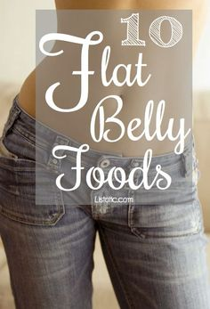10 Flat-Belly Foods that help prevent bloating! That little bit of extra weight we carry in our mid-sections from water retention and gas is...