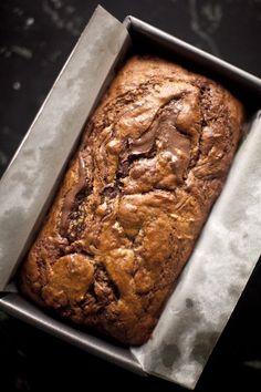 nutella swirled banana bread | ZoeBakes