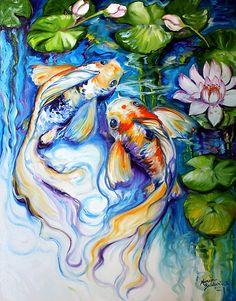 KOI KOI & LILY by Marcia Baldwin by MARCIA BALDWIN