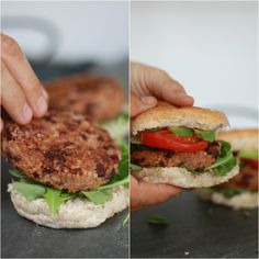 Kidney Bean Burgers, Kidney Beans, Salmon Burgers, Easy Meals, Yummy Food, Vegan, Pers, Healthy, Ethnic Recipes