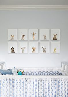 Baby animals baby nursery #home #decor #interior