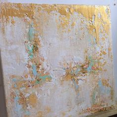 Abstract Gold Leaf Painting by KPartDesigns on Etsy