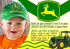 Birthday Invitation • Tractor Theme • Free economy shipping • Fast turnaround time • Great customer service • These birthday invitations are custom, high resolution digital files that are personalized for each customer upon order