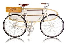 Creative Summer, Bike, Almond, Linus, and Uncrate image ideas & inspiration on Designspiration Velo Vintage, Vintage Bikes, Vintage Style, Surfboard Bike Rack, Best Surfboards, Bike Design, Cycling Bikes, Surf Shop, Cool Bikes