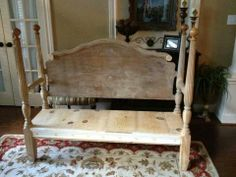 Old bed bench