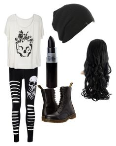 """""""DARK SKULLZ"""" by crazyfangirl666 ❤ liked on Polyvore featuring Dr. Martens"""