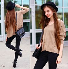 Simple autumn outfit (by Ariadna Majewska)