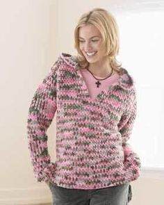 "A v-neck sweatshirt can also be made into a nice hoodie. Crochet yourself a casual and chunky sweatshirt. This free crochet pattern from <a href=""http://www.favecrafts.com/Craft-Manufacturers/Bernat-Yarns"" target=""_blank"">Bernat Yarns</a> is great for yourself or a friend. The Casual Chunky Sweatshirt is perfect for any occasion. Wear it Christmas morning as you open presents, in the fall at a bonfire, or in early spring when the air is still crisp. This is the..."