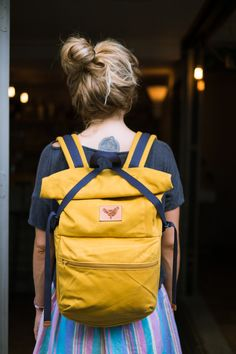 Yellow Bub - 12L waxed cotton canvas rolltop backpack