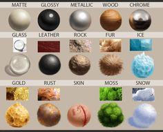 Material spheres - study by caffeine-n-sugar.deviantart.com on @DeviantArt