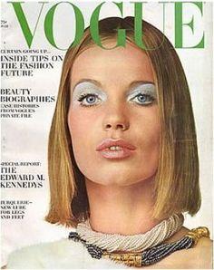 Vintage Vogue magazine covers - mylusciouslife.com - Vintage Vogue July 1965 - Veruschka.jpg