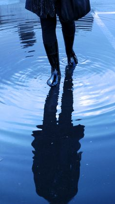 Rain: ripple effect by buzzygirl  This reminds me that every step we take in life has a rippling effect. J