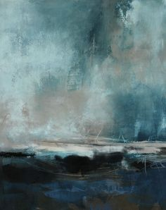Abstract paintings by Kathleen Menges, cold wax and oil artist