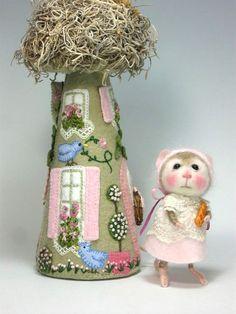 Maus/Bunny Nadel Felted Tier Klasse gekleidet / Create sowohl die Hase und Maus (Kit Available und separat verkauft) auf Etsy, 33,46€