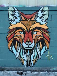 Andreas Preis, Dachspitze in Bushwick, Brooklyn, NYC, 2016 - Streetart / Graffiti / Art - Painting Boy Murals Street Art, Street Art Graffiti, Graffiti Artwork, Urban Street Art, Best Street Art, Mural Wall Art, Mural Painting, Wall Paint Inspiration, Urbane Kunst