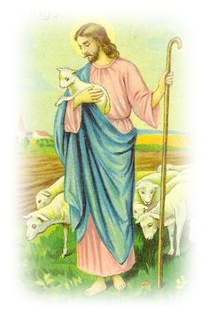 free-vintage-easter-clip-art-jesus-with-lambs-and-staff.png (315×480)